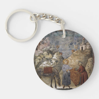 Giotto:St. Francis Giving his Mantle to a Poor Man Acrylic Key Chains