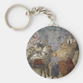 Giotto:St. Francis Giving his Mantle to a Poor Man Key Chain