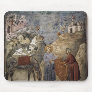 Giotto St Francis Giving his Mantle to a Poor Man Mousepads