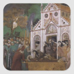 Giotto: St. Francis Mourned by St. Clare Square Sticker