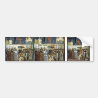 Giotto: St. Francis of Assisi Preparing the Crib Bumper Stickers