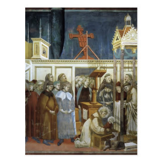 Giotto St Francis of Assisi Preparing the Crib Post Card