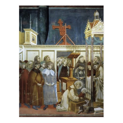 Giotto: St. Francis of Assisi Preparing the Crib Post Card