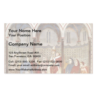 Giotto: St. Francis Preaching a Sermon to Pope Double-Sided Standard Business Cards (Pack Of 100)
