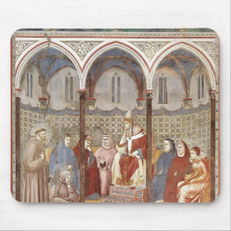 Giotto St Francis Preaching a Sermon to Pope Mouse Pads