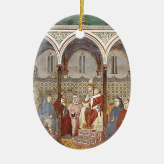 Giotto: St. Francis Preaching a Sermon to Pope Christmas Tree Ornaments