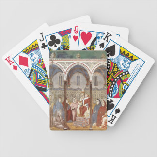 Giotto: St. Francis Preaching a Sermon to Pope Bicycle Poker Cards