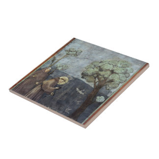 Giotto: St. Francis Preaching to the Birds Ceramic Tile