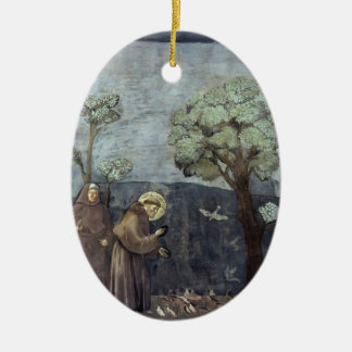 Giotto: St. Francis Preaching to the Birds Christmas Ornament