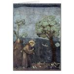 Giotto: St Francis que predica a los pájaros Tarjetón