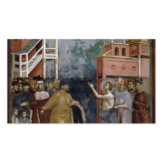 Giotto: St. Francis Renounces all Worldly Goods Double-Sided Standard Business Cards (Pack Of 100)