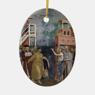 Giotto: St. Francis Renounces all Worldly Goods Christmas Ornaments