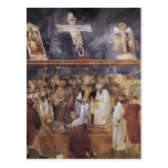 Giotto: St Jerome que comprueba los estigmas Tarjeta Postal