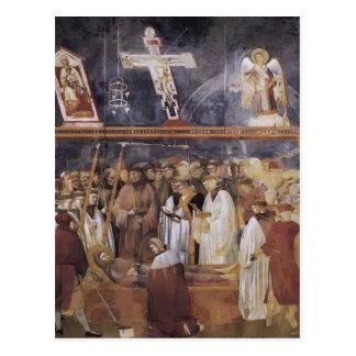 Giotto: St Jerome que comprueba los estigmas Tarjetas Postales