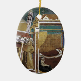 Giotto: The Dream of Innocent III Christmas Tree Ornament