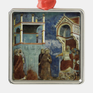 Giotto: The Trial by Fire Square Metal Christmas Ornament