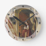 Giotto: The Virgin Receiving the Message Wall Clock