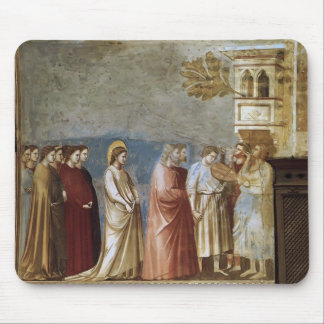 Giotto: The Virgin's Wedding Procession Mouse Pad