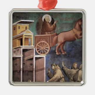 Giotto: Vision of the Flaming Chariot Christmas Tree Ornament