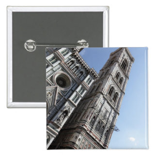 Giotto's Bell Tower and Santa Maria del Fiore Pinback Button