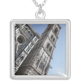 Giotto's Bell Tower and Santa Maria del Fiore Silver Plated Necklace