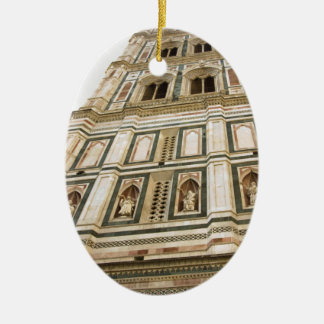Giotto's Bell tower Ceramic Ornament