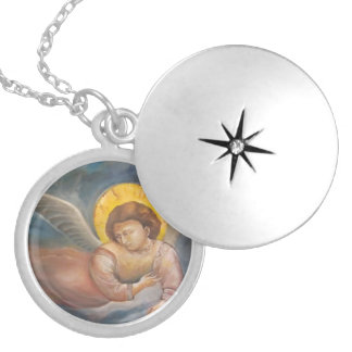 Giotto's Fresco. Angel of Guidance Locket Necklace