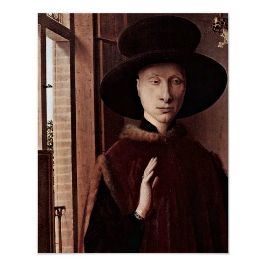 Giovani Arnolfini by Jan van Eyck Poster