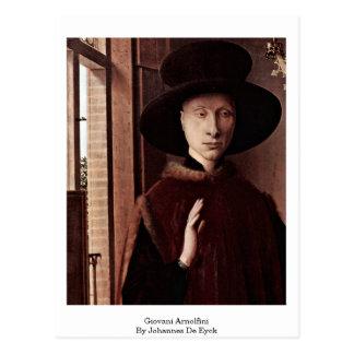 Giovani Arnolfini By Johannes De Eyck Postcard