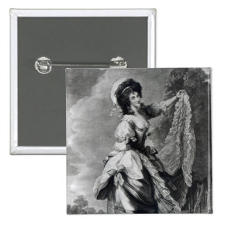 Giovanna Baccelli, engraved by John Jones 2 Inch Square Button
