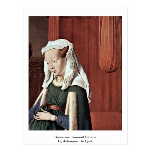 Giovanna Cenamil Detalle By Johannes De Eyck Post Card