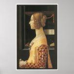 Giovanna degli Albizzi Tornabuoni, c. 1488 Posters