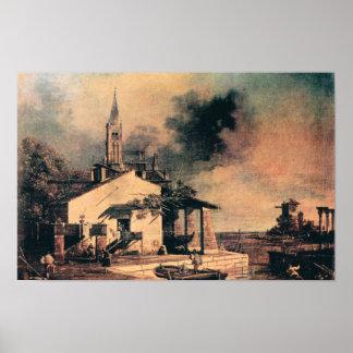 Giovanni Antonio Canal-Lagoon landscape Poster