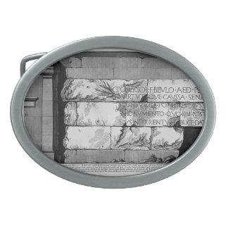 Giovanni Battista Piranesi- The Roman antiquities Oval Belt Buckles