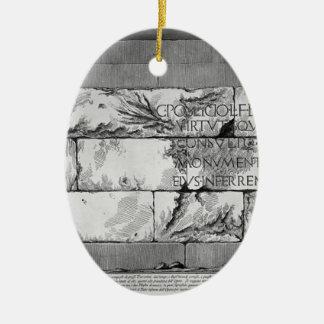 Giovanni Battista Piranesi- The Roman antiquities Christmas Ornaments