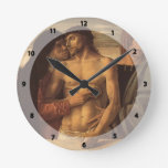 Giovanni Bellini- Dead Christ Supported by Madonna Wall Clocks
