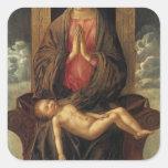Giovanni Bellini-Madonna Cherishing the Child Square Sticker