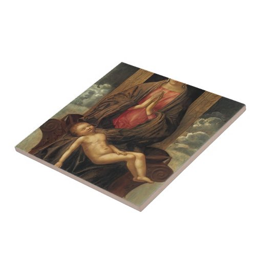 Giovanni Bellini-Madonna Cherishing the Child Ceramic Tile