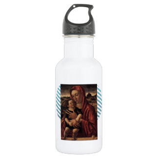 Giovanni Bellini-Madonna,Child Standing on Parapet 18oz Water Bottle