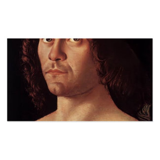 Giovanni Bellini- Portrait of a Humanist Business Card Templates