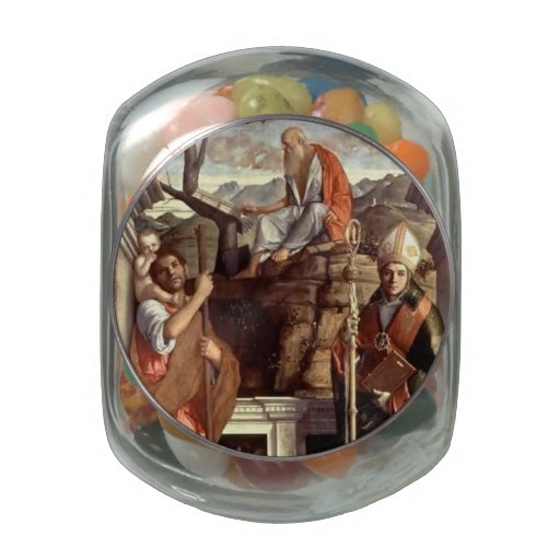 Giovanni Bellini- St. Jerome, St. Christopher Jelly Belly Candy Jar