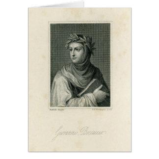 Giovanni Boccaccio Tarjeta De Felicitación