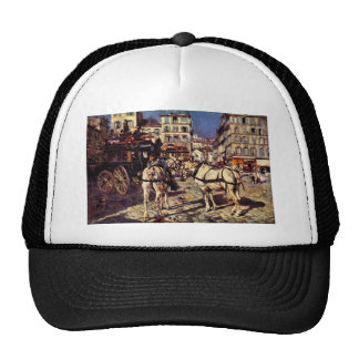 Giovanni Boldini - Buses on the Pigalle place in P Trucker Hat