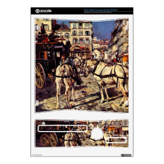Giovanni Boldini - Buses on the Pigalle place in P Xbox 360 S Console Skins