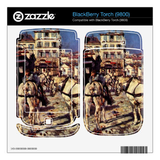 Giovanni Boldini - Buses on the Pigalle place in P Skin For BlackBerry Torch