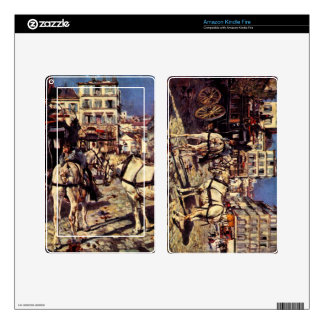 Giovanni Boldini - Buses on the Pigalle place in P Skin For Kindle Fire
