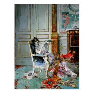 Giovanni Boldini- Girl Reading in a Salon Post Card