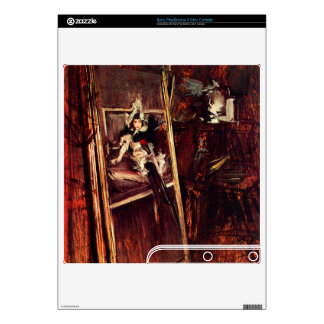 Giovanni Boldini - Inside the studio of the painte Decal For PS3 Slim