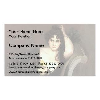 Giovanni Boldini- Lady Colin Campbell Business Card Templates