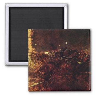 Giovanni Boldini - Night in Monmartre 2 Inch Square Magnet
